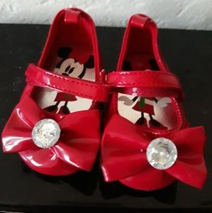Red Minnie Mouse Infant shoes